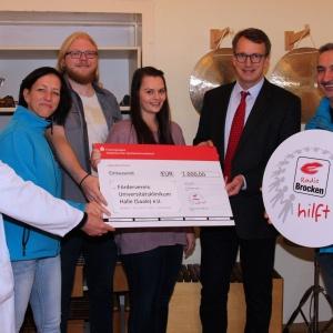 Radio Brocken hilft eV_Spendenuebergabe an Foerderverein der Uniklinik Halle