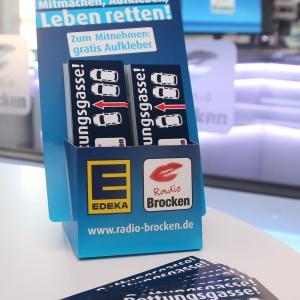 Radio Brocken_Rettungsgasse_Autoaufkleber