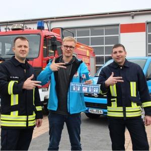 Radio Brocken_Rettungsgasse_Simon Dietze mit Freiwilliger Feuerwehr Stoessen