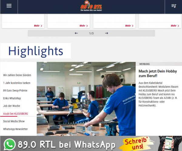 Kleusberg_Recruiting_Online_Startseite